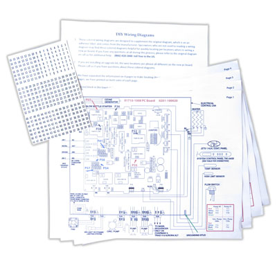 Color Coded Wiring Diagram – Easy Spa Parts on